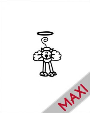 Gatto angioletto - Maxi Adesivi Famiglia per Camper