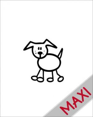 Cane 3 - Maxi Adesivi Famiglia per Camper