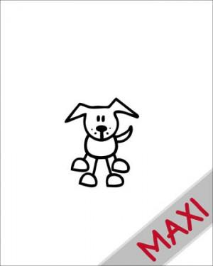 Cane 4 - Maxi Adesivi Famiglia per Camper