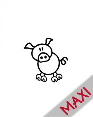 Maialino - Maxi Adesivi Famiglia per Camper