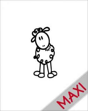 Pecorella - Maxi Adesivi Famiglia per Camper