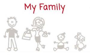 """Adesivo """"La mia Famiglia"""" / """"My Family"""" - Maxi Adesivi Famiglia per Camper"""