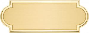 ALS - Targa da porta sagomata ottone satinato bordo lucido