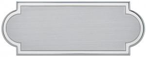 AML - Targa da porta sagomata alluminio satinato bordo lucido verniciato