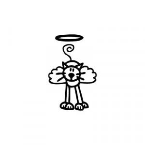 Gatto Angioletto - Adesivi Famiglia