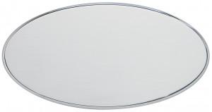 AOL - Targa da porta ovale alluminio satinato bordo lucido