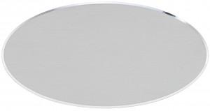 ATA - Targa da porta ovale alluminio anodizzato argento taglio lucido