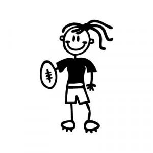 Bambina football - Adesivi Famiglia
