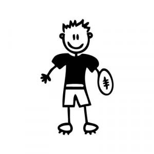 Bambino football - Adesivi Famiglia