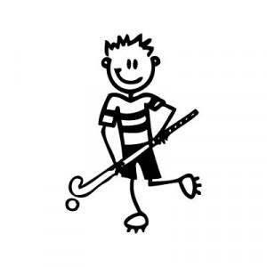 Bambino hockey 2 - Adesivi Famiglia