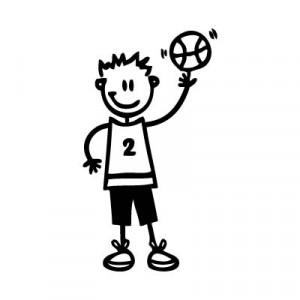 Bambino basket - Adesivi Famiglia