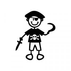 Bambino pirata - Adesivi Famiglia