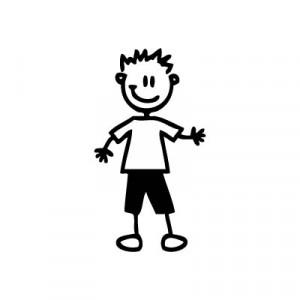 Bambino sportivo - Adesivi Famiglia