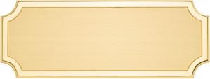 DLS - Targa da porta sagomata ottone satinato bordo lucido