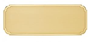 FLS - Targa da porta sagomata ottone satinato bordo lucido
