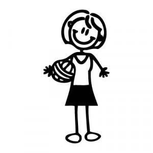 Mamma pallavolista - Adesivi Famiglia