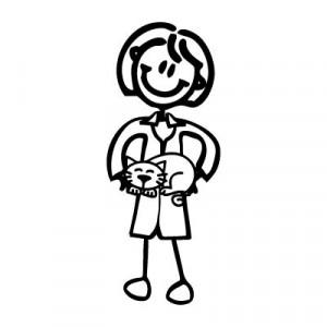 Mamma veterinaria - Adesivi Famiglia