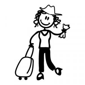 Mamma viaggiatrice - Adesivi Famiglia