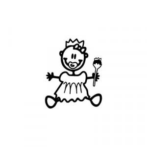 Neonata principessa - Adesivi Famiglia