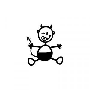 Neonato diavoletto - Adesivi Famiglia