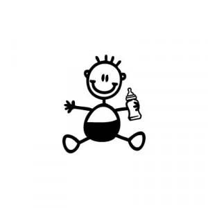Adesivi Famiglia Il Tuo Bebè Stilizzato Da Attaccare Sull Auto