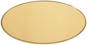 OLL - Targa da porta ovale ottone lucido