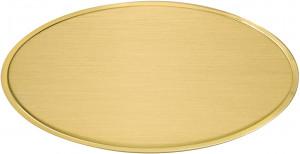 OS - Targa da porta ovale ottone satinato taglio lucido