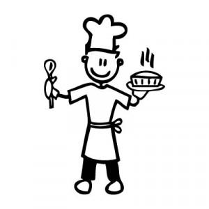 Papà chef - Adesivi Famiglia