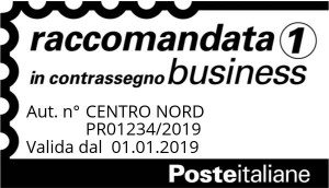 Timbro Posta Raccomandata 1 Business (in contrassegno)