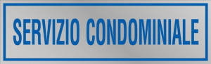 """Etichetta adesiva """"Servizio condominiale"""""""