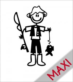 Papà pescatore - Maxi Adesivi Famiglia per Camper