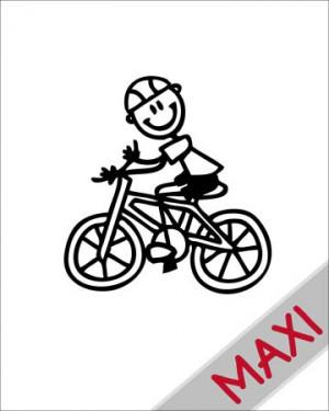 Bambino in bicicletta - Maxi Adesivi Famiglia per Camper