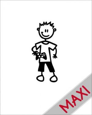 Bambino con videogioco - Maxi Adesivi Famiglia per Camper
