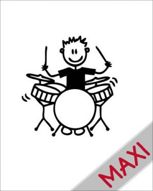 Bambino con la batteria - Maxi Adesivi Famiglia per Camper