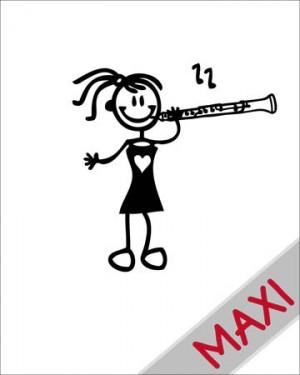 Bambina col clarinetto - Maxi Adesivi Famiglia per Camper