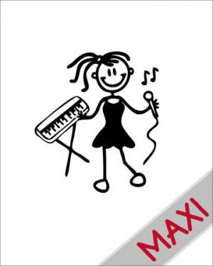 Bambina musicista - Maxi Adesivi Famiglia per Camper