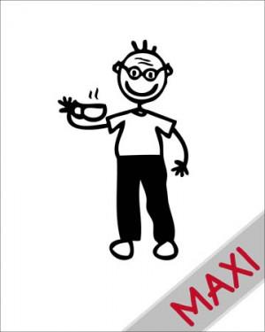 Nonno con tazza - Maxi Adesivi Famiglia per Camper