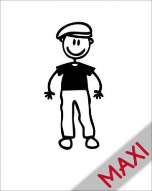 Nonno con cappello - Maxi Adesivi Famiglia per Camper