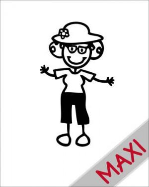 Nonna con cappello - Maxi Adesivi Famiglia per Camper