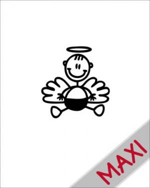 Neonato angioletto - Maxi Adesivi Famiglia per Camper
