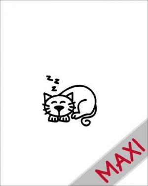 Gatto - Maxi Adesivi Famiglia per Camper