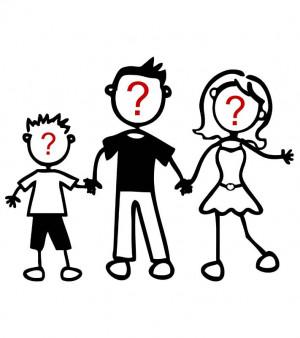 Triplo personaggio: te li disegniamo noi - Adesivi Famiglia
