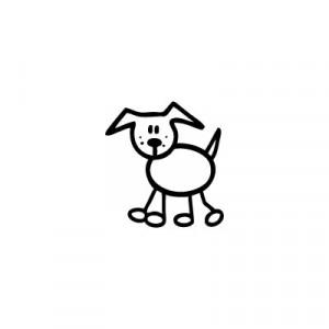 Cane 3 - Adesivi Famiglia