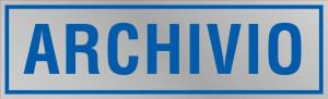 "Etichetta adesiva ""Archivio"""