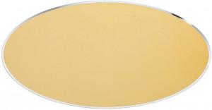 ATO - Targa da porta ovale alluminio anodizzato oro taglio lucido