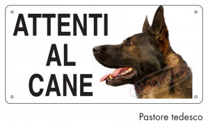 Attenti al cane Pastore tedesco