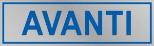 """Etichetta adesiva """"Avanti"""""""