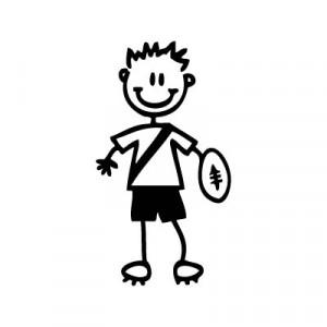 Bambino rugby - Adesivi Famiglia