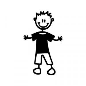 Bambino con maglietta - Adesivi Famiglia