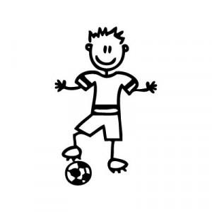 Bambino calciatore